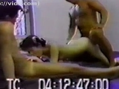 Wild asian bitch receives taboo with two males in sleazy trine