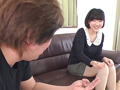 Anomalous lady's man is fisting anal hole of lustful Japanese chick after pussy shaving scene
