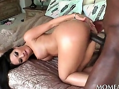 Lonely home wife pussy gangbanged rough sex by a darksome stud