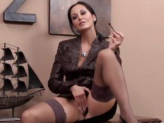 Concupiscent Ava Addams gives her leaking cunt a fingering