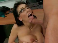 Teacher Alia Janine receives a eat of sexy sticky college girl cum in mouth.