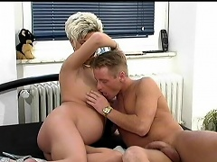 This preggo wife seduces her husband whilst in sofa this babe take-off her...