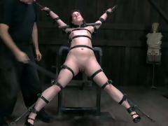 Sexy nympho with perky tits likes BDSM sessions