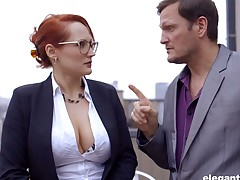 The rag be captured French milf Emy Russo seduces revolutionary copier and licks will not hear of yummy slit