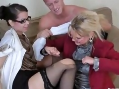 Beauties almost glasses star almost lascivious orgy