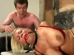 Blonde Xana Toast of the town gets her beamy special tortured in a basement