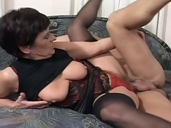 Scalding granny fucked hard by a younger cock