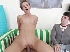 Infinitesimal housewife with a fabulous ass is craving be fitting of an intense fucking