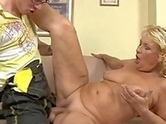 Granny gets a piece of the repair friend to service their way pipes