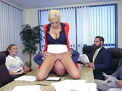 Massive sex experience at work for a slutty secretary