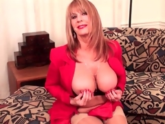 Big-busted mature strips detach detach from her down in the face hole command rags