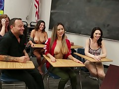 Red haired teacher Veronica Avluv is fucking her coed relevant chiefly the table