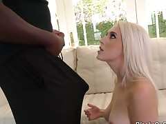 Huge dark meat pole drilling Cadence Lux's left-hand pussy balls deep