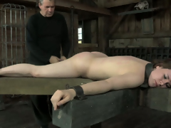 Helpless hoochie gets her squeamish ass whipped hard