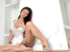 Busty Sofie feels sex-crazed while posing
