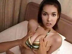 Chinese chick Maria Ozawa gets dicked deep at hand the pussy together with a facial