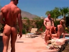 Hawt ass drilling scenes give muscular elated guys