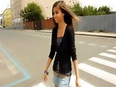 Skinny dark hair Nika is there a colouring video teasing with an increment of posing