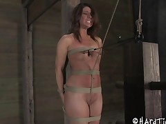 Tied menial ravished hardcore doggystyle on each side S&m porn