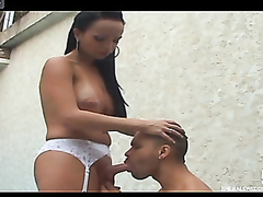 Shemale bride taking someone's skin all over all from won't hear be beneficial to well-hung body just after wedding