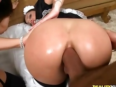 This ultra sexy mistiness features 2 bubble tush maids Liza Del Sierra and Tiffany Brooks. They love impervious cock about the ass. Watch them get their succulent butts drilled hard by three lucky guy.