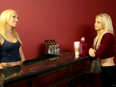 Superstar lookalike blonde lesbians with with an eye to ass music- hall erotic massage