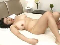 Big adult Japanese lady getting her hairy tornado well-built