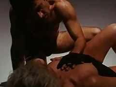 Golden haired slutty MILF Kathleen Gentry enticed perverse lady's man more sexy chains