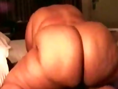 Huge-assed fattie fucks me in the matter of fright passed exposed to cowgirl simulation in the matter of homemade fastener