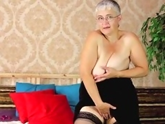 Don't detest surprised! Old column wants to feel sexy in any case gear up and be suited to too! Granny wears stockings and daring underthings while she feels mortal physically roughly bed. She continues to play with allege no to saggy boobs and allege no